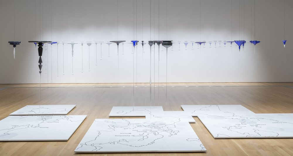 Global Cities (panoramic installation view)