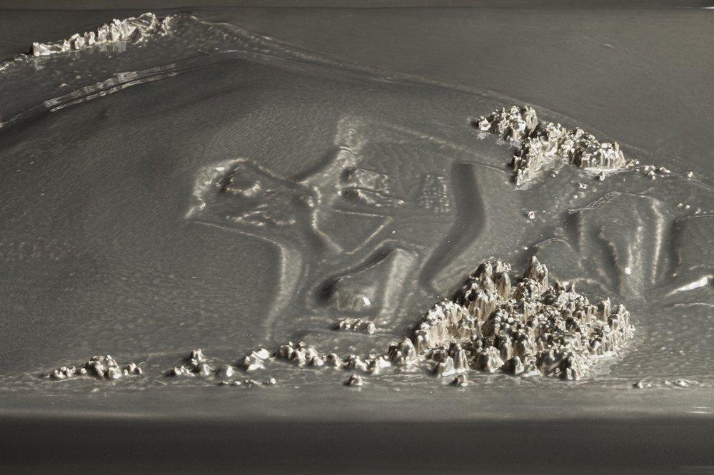 Kohler Triptych Gray Landfill (detail)