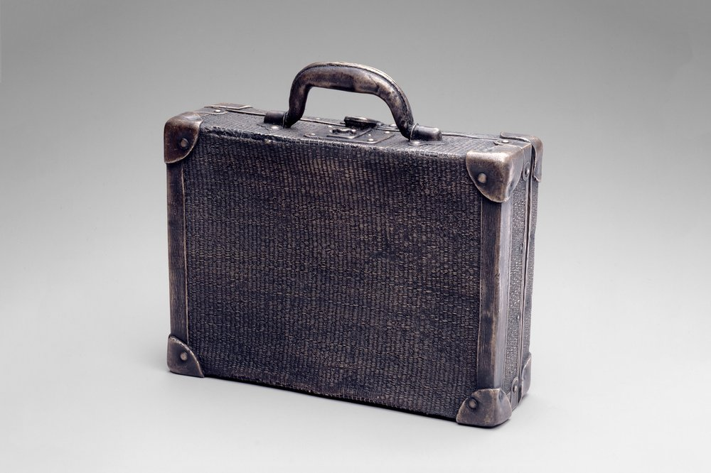First Generation Artifact: Woven Straw Suitcase