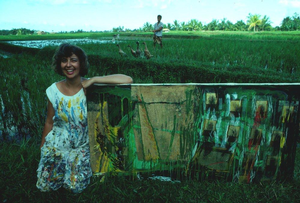 Janet in Bali, 1989