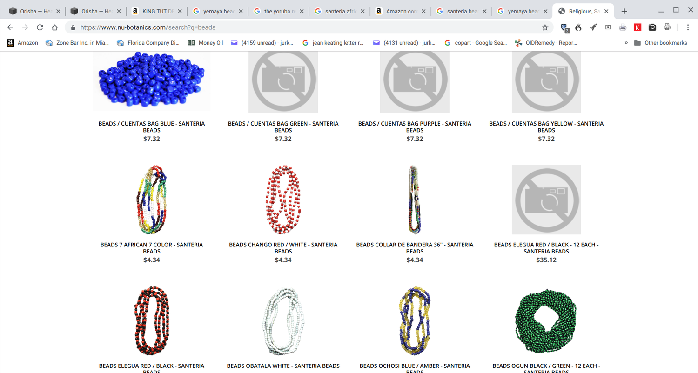 7 Color 7 African Powers Santeria Beads — Healing Lotus Shop