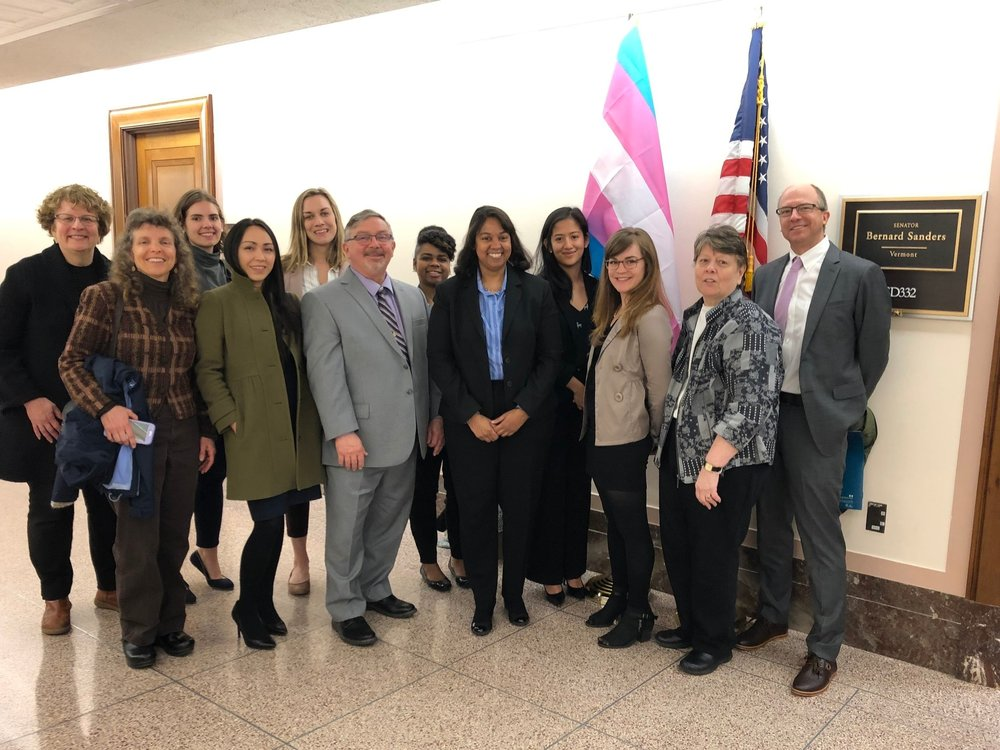 Vermont Trio staff and alumnae with aides for Senator Bernie Sanders
