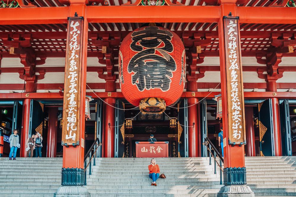Sensoji Temple in Asakusa, Tokyo.