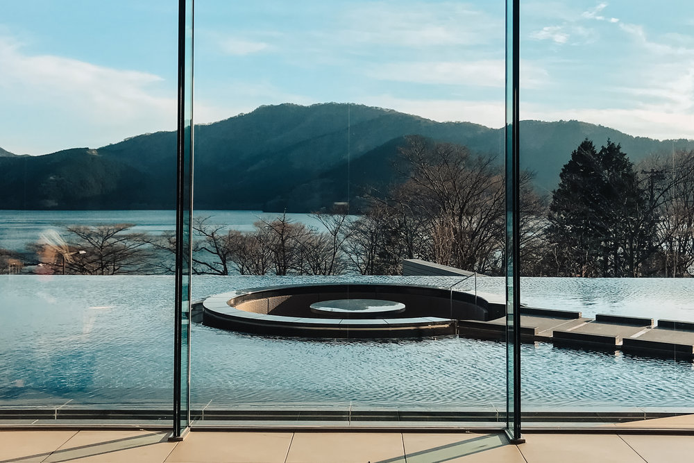 View from the lobby of  Ashinoko Hanaori .