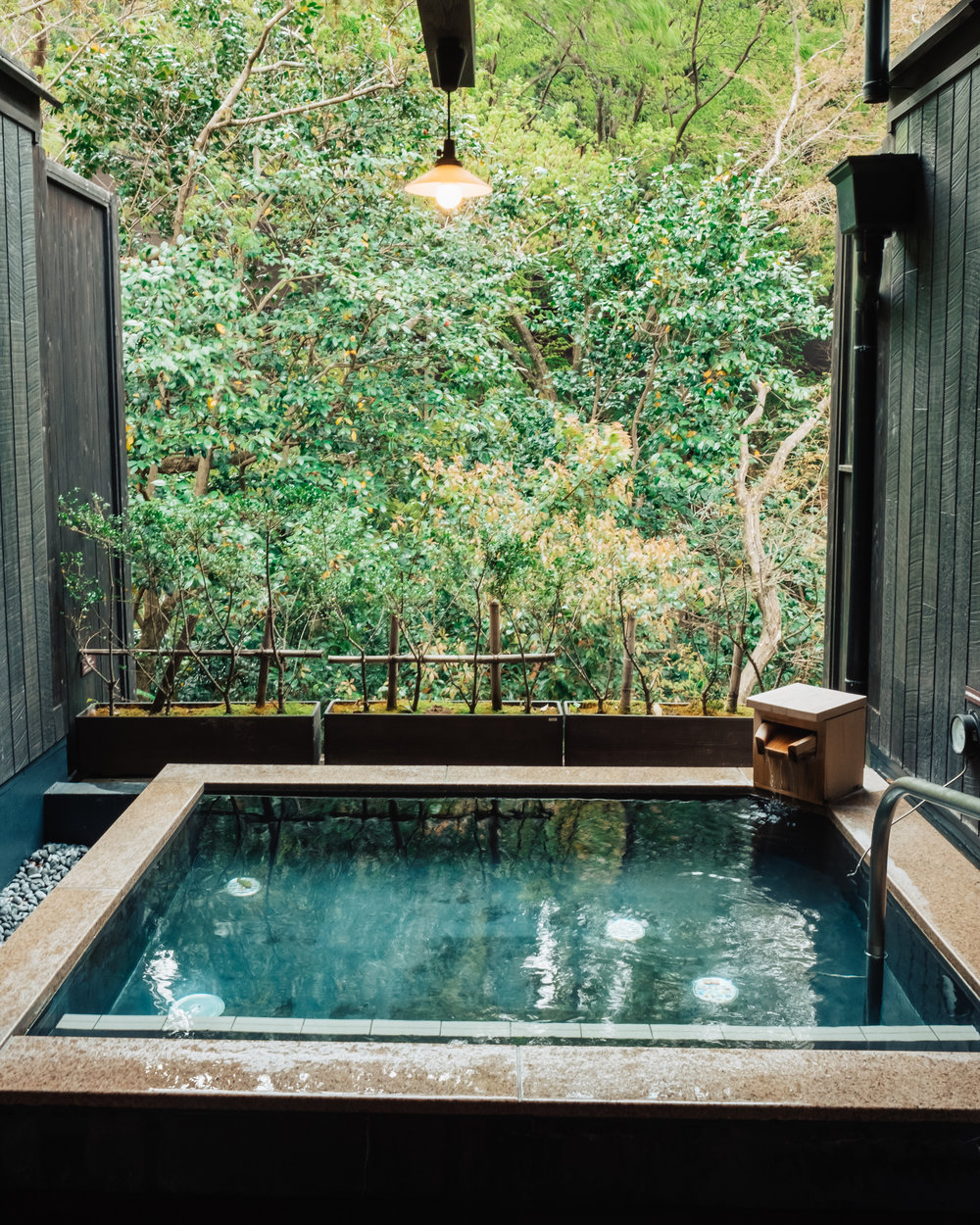 My private onsen at Hakone Yuryo.