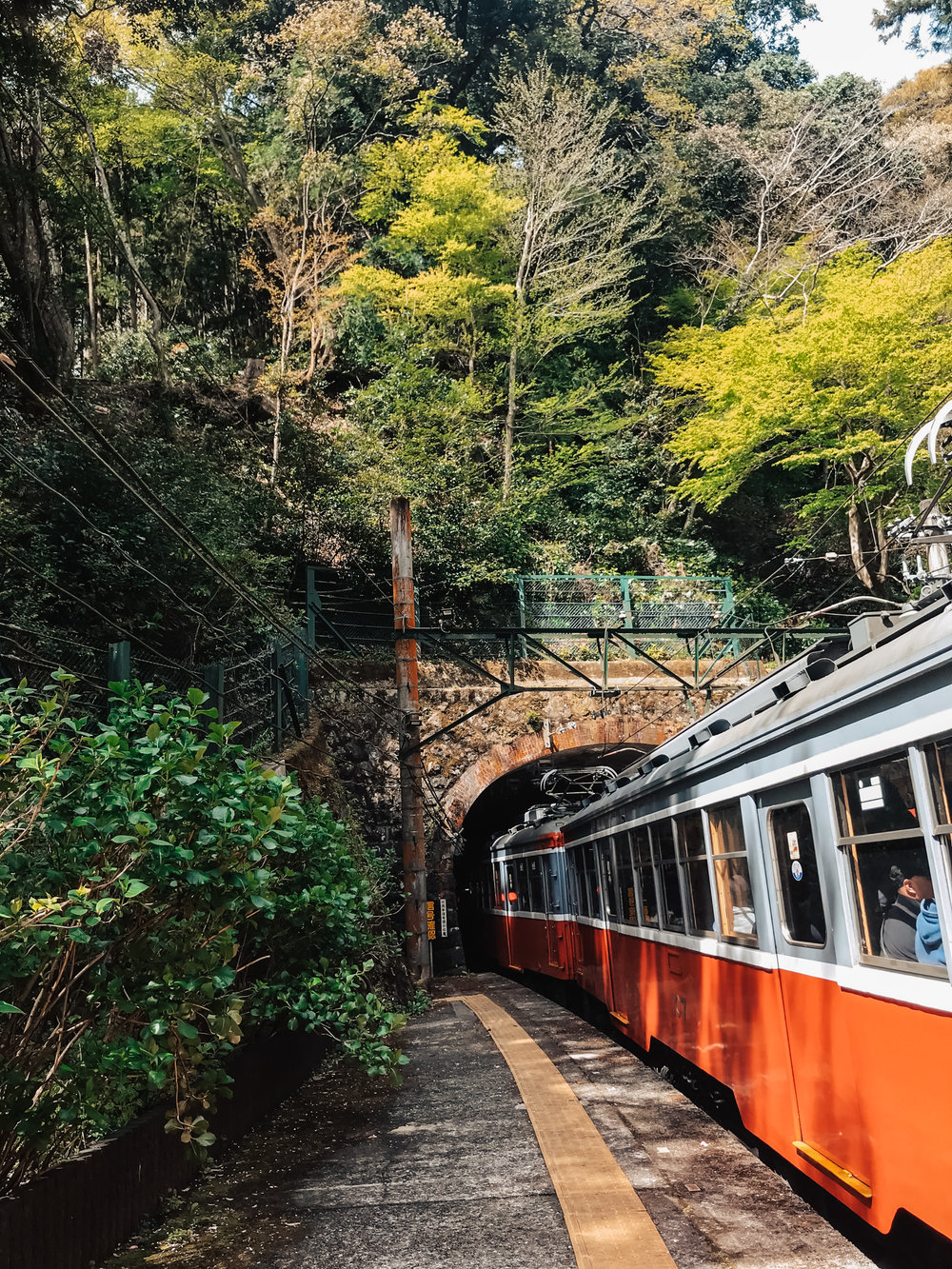Tonosawa station in Hakone.