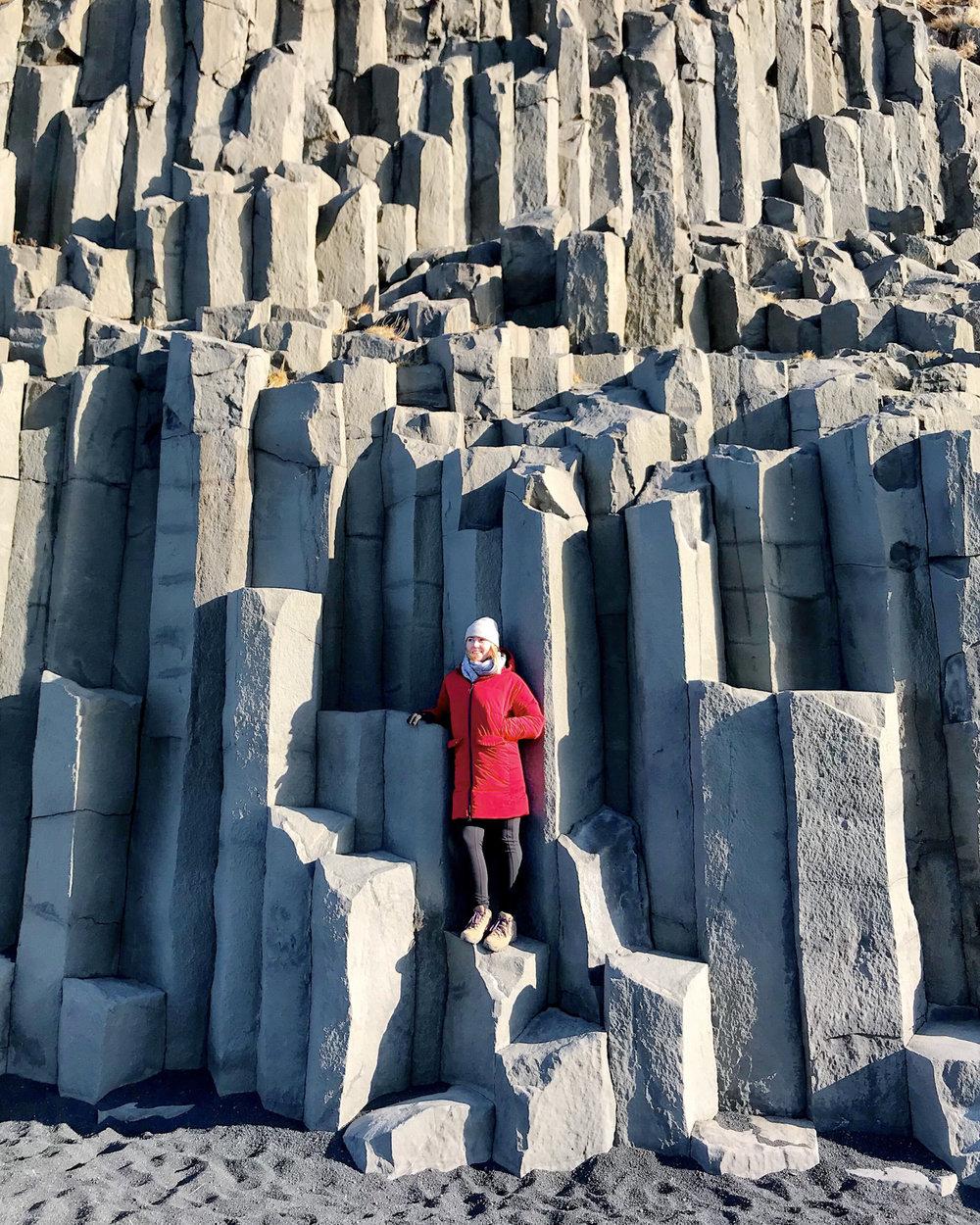The white cliffs of Reynisfjara beach.