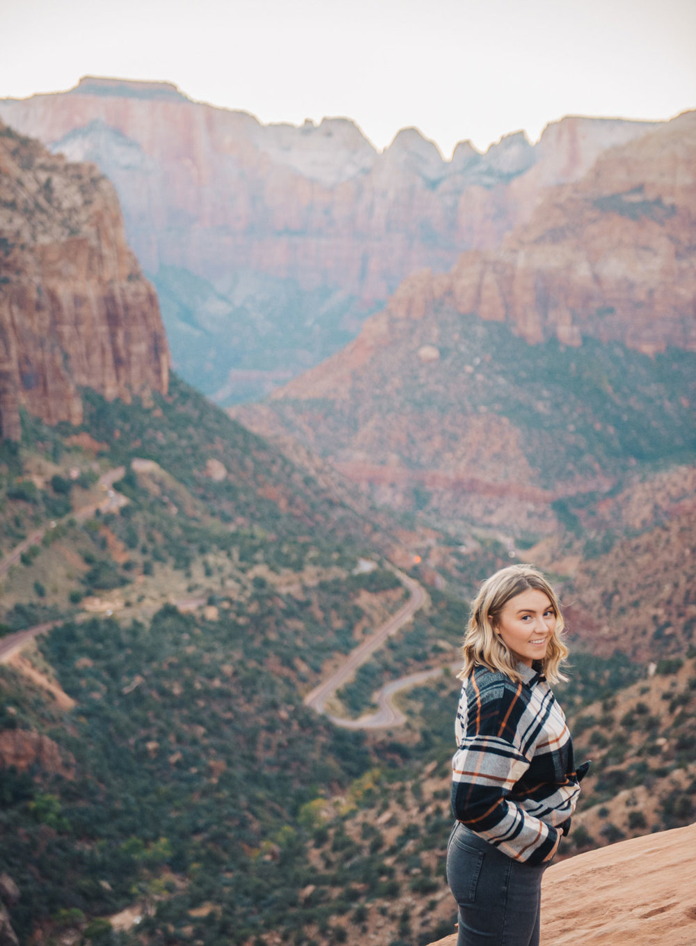 The view from Canyon Overlook // Shirt: Madewell, Jeans:  Everlane