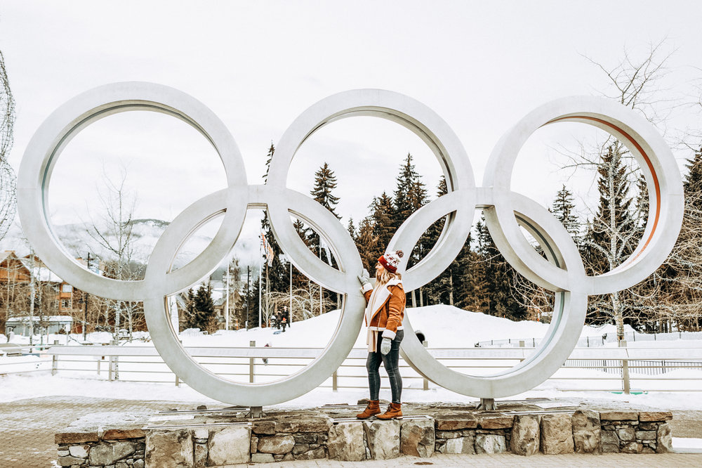 The Olympic Rings in Whistler Village
