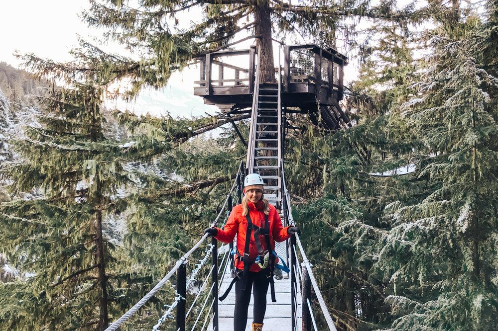 Ziplining with Ziptrek in Whistler, BC
