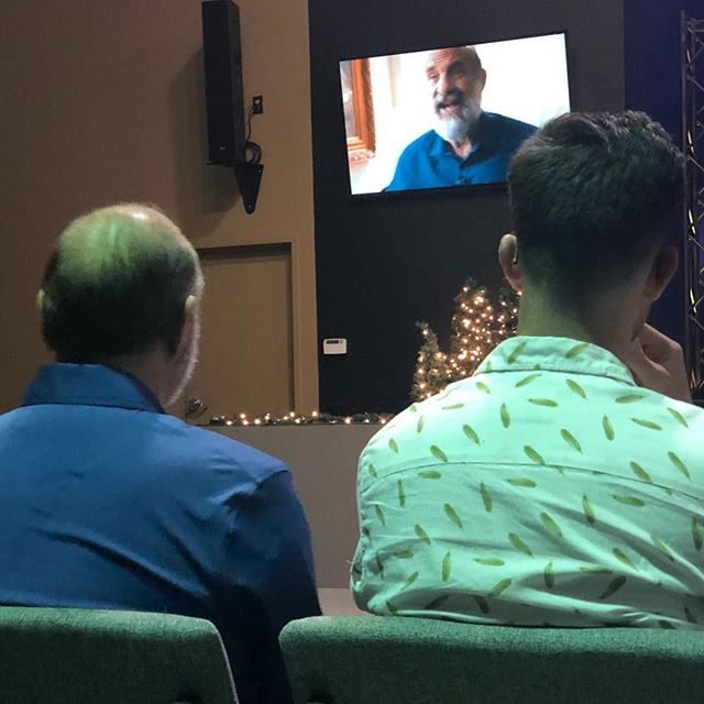 A bit surreal watching @lou.engle watch LOU on @thesend  video! Powerful message in #lakeland last night!  #orlandorevival is happening and the presence of #jesus is evident! #holyspirit #propheticword #spiritfilled #royalawakening #godisgood❤️