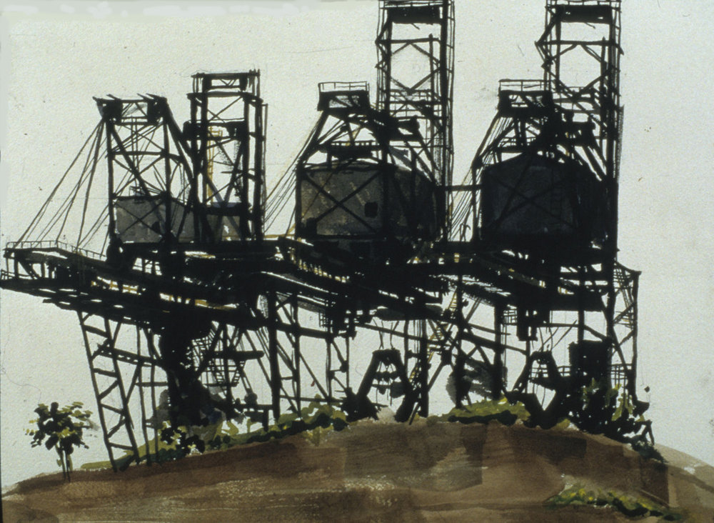 "Three Cranes 11x14"" Watercolor on paper"