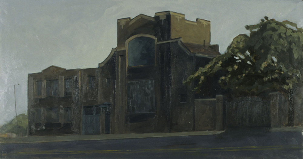 """Commissioned Portrait of the Foundry 15x24"""" Oil on panel"""