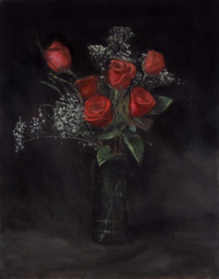 Red Tea Roses Oil on canvas 15x12%22.jpg