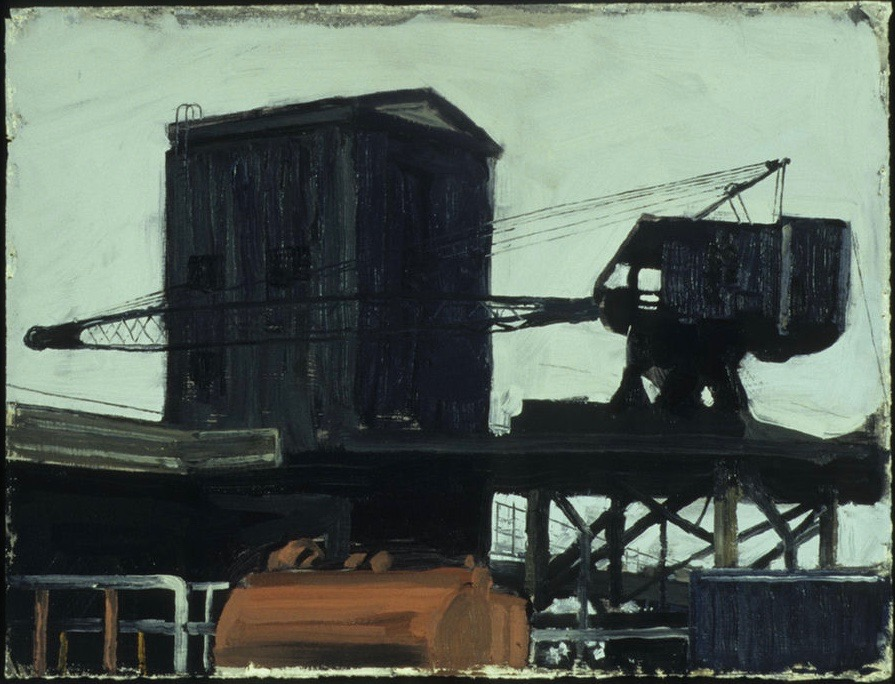 33 Schuylkill Crane with Red Tank oil on paper 11 x 15.jpg