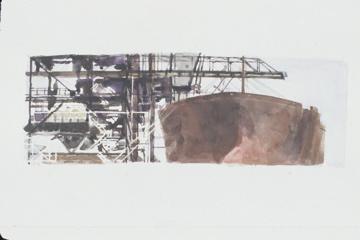18 Ship in Dock watercolor on paper 7 x 15.jpg