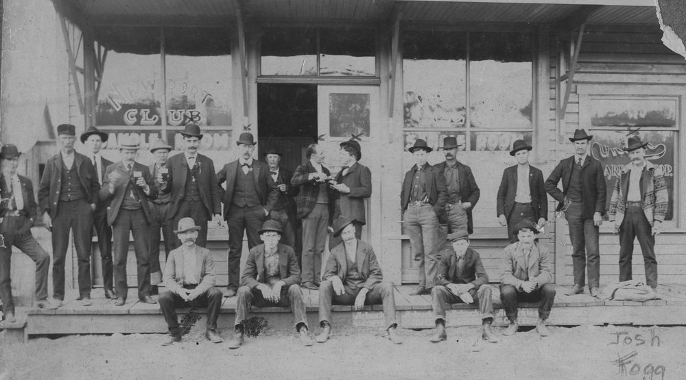 Then… - Kelly's has always been a popular watering hole. The original saloon, called the Newport Club, featured the rich wood Brunswick bar and ornate tin plate ceiling that still remain today.Photo courtesy of the Pend Oreille Historical Society