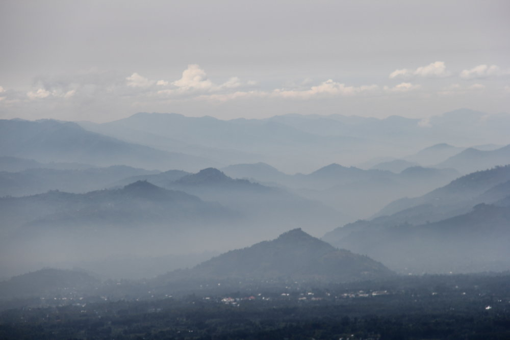 Virunga mountains, Rwanda, home of the endangered mountain gorilla