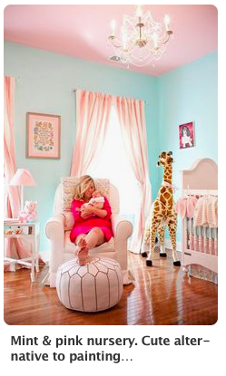 Some moments are Pintrest worthy, just like my oldest daughter, Presley's nursery.