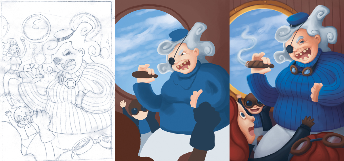 From sketch to finish: Cap'n Gran