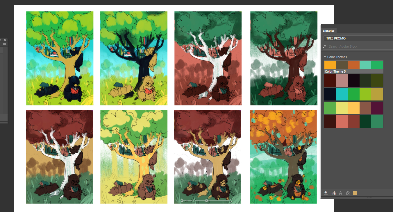 tree color studies