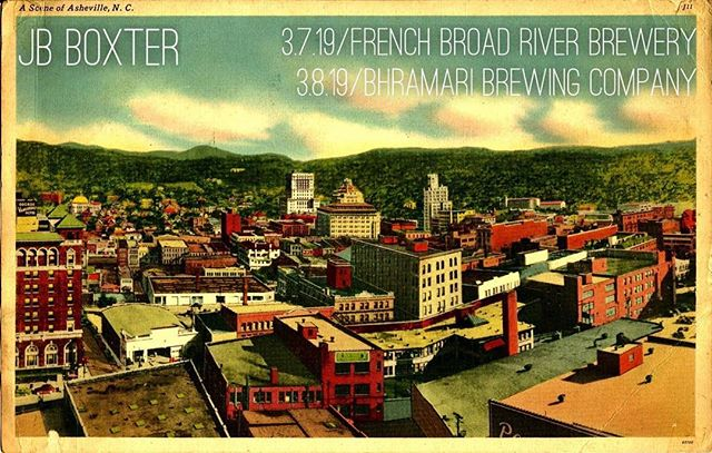 Throwing down some #anthracitesoul solo this weekend  in beautiful #asheville.  Thursday @frenchbroadriverbrewery from 6-8 and Friday night from 7-9 at @bhramari_brewingco.