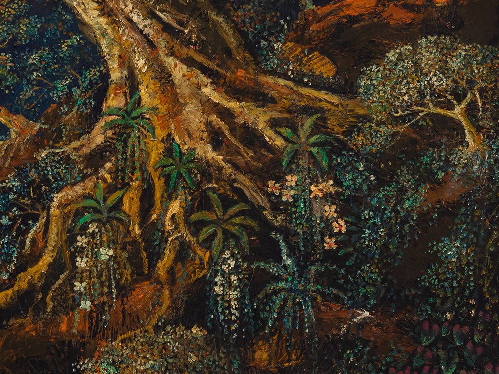 Pohon Flamboyan,  1991 (detail) oil on canvas H.Widayat