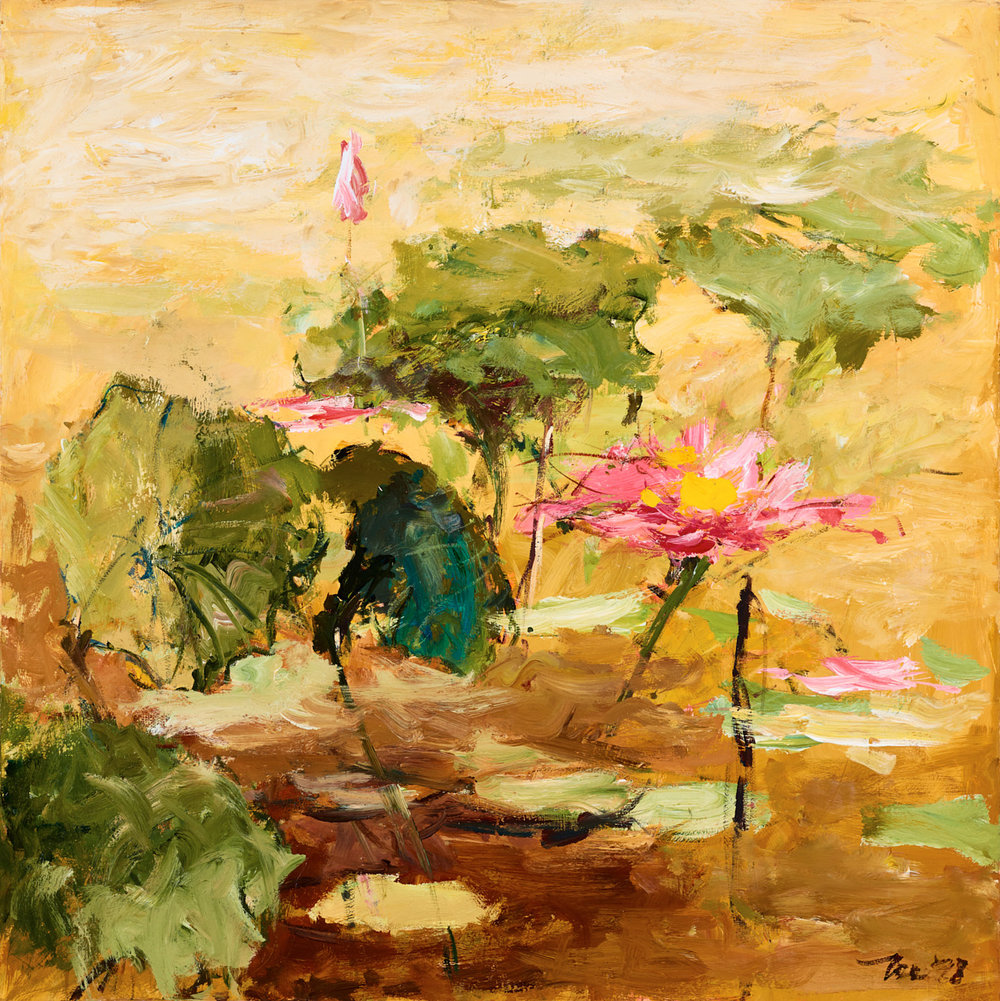 Blooming Lilies   ,  1998   acrylic on canvas   Ang Ah Tee  client: Singtel