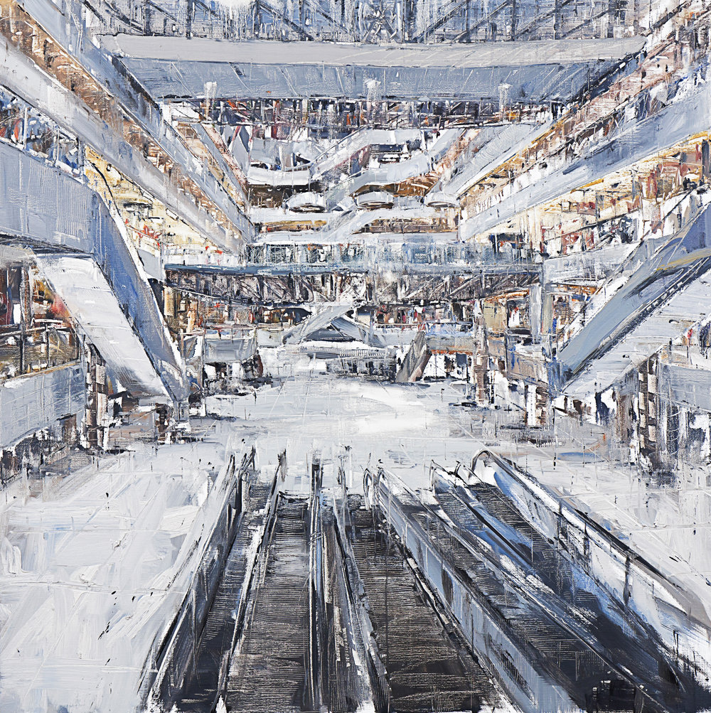 The Mall #19  , 2011 oil on canvas Boo Sze Yang  client: Boo Sze Yang