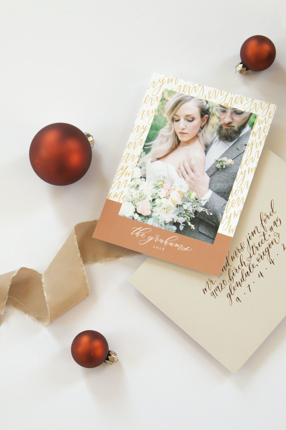 Merry Merry Photo Holiday and Christmas Card by Caitlin O'Bryant Design. Sample photo by Kirsten Wilson Photography.