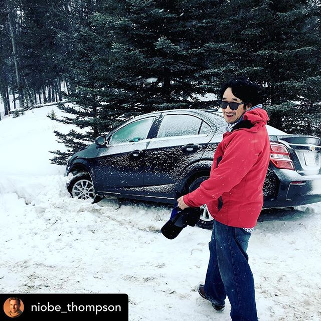 Posted @withrepost • @niobe_thompson LA composer has arrived in Banff for the recording sessions! #boynomad #equusdoc #nowintertires