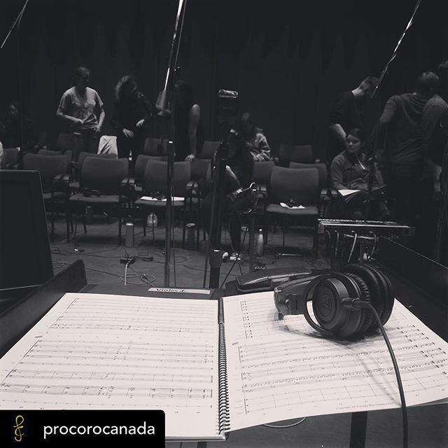Posted @withrepost • @procorocanada Recording some of Darren Fung's work this afternoon with @edmontonyouthchoir #choralart18 #yegchoir