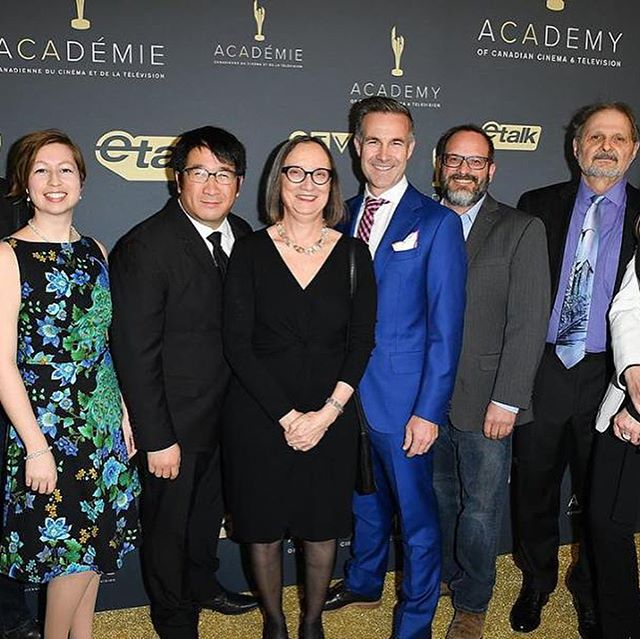 The amazing @equusdoc team. What an honour to be a part of, and to win #cdnscreenawards !