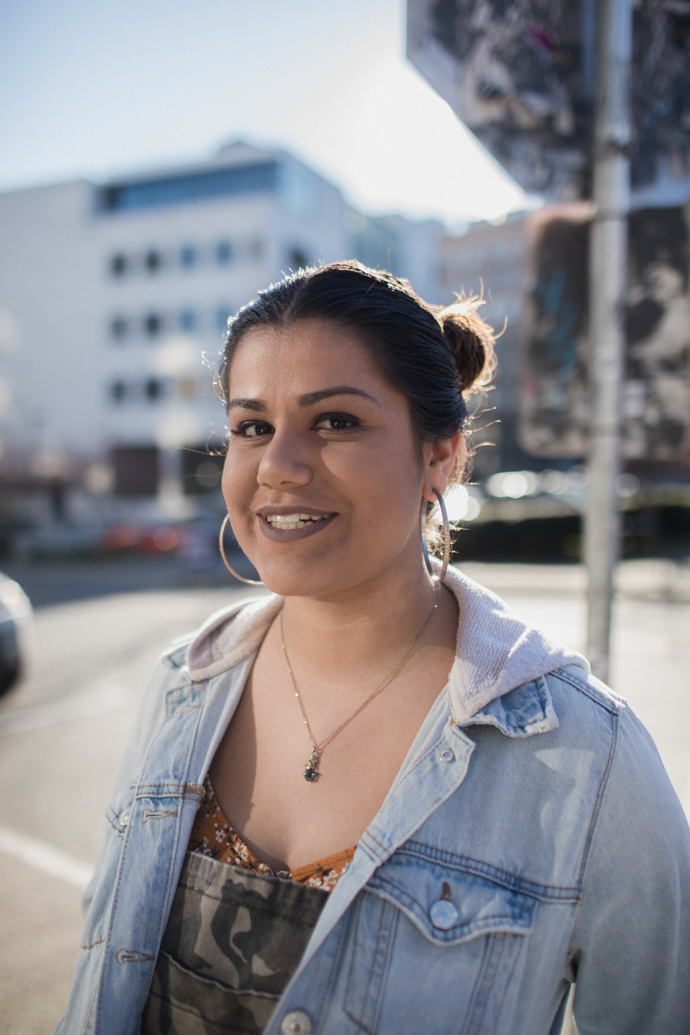 """CAMBRIA HERRERA - """"it's especially valuable to get to say on a stage as a person of color or a person of underrepresented gender and sexuality because we are constantly fed one narrative in mainstream media."""""""