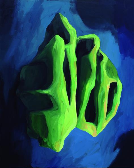 Visión de San Juan . Óleo sobre lienzo. 92x65 cm. 2014
