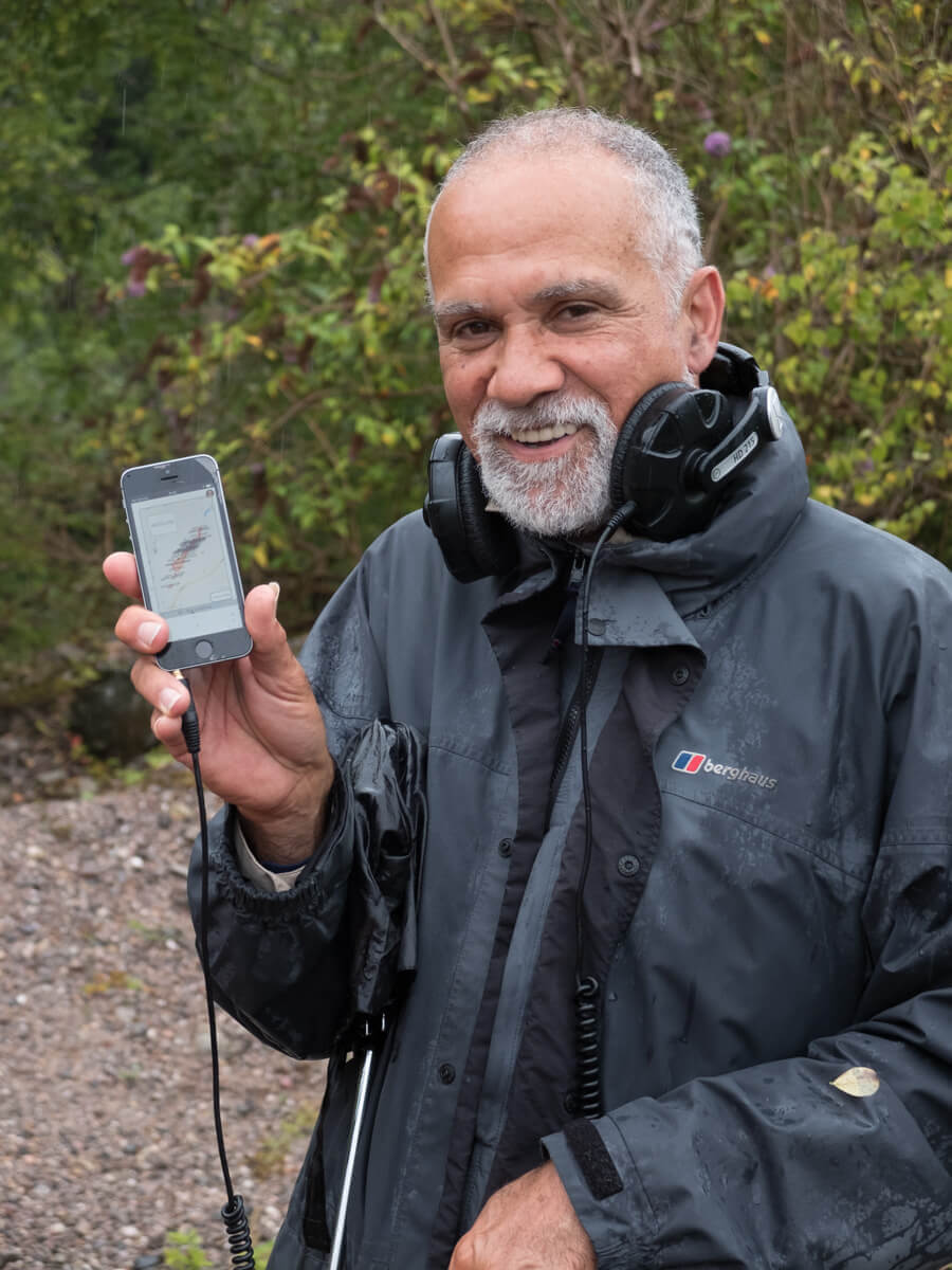 Ralph Hoyte with his GPS smartphone app