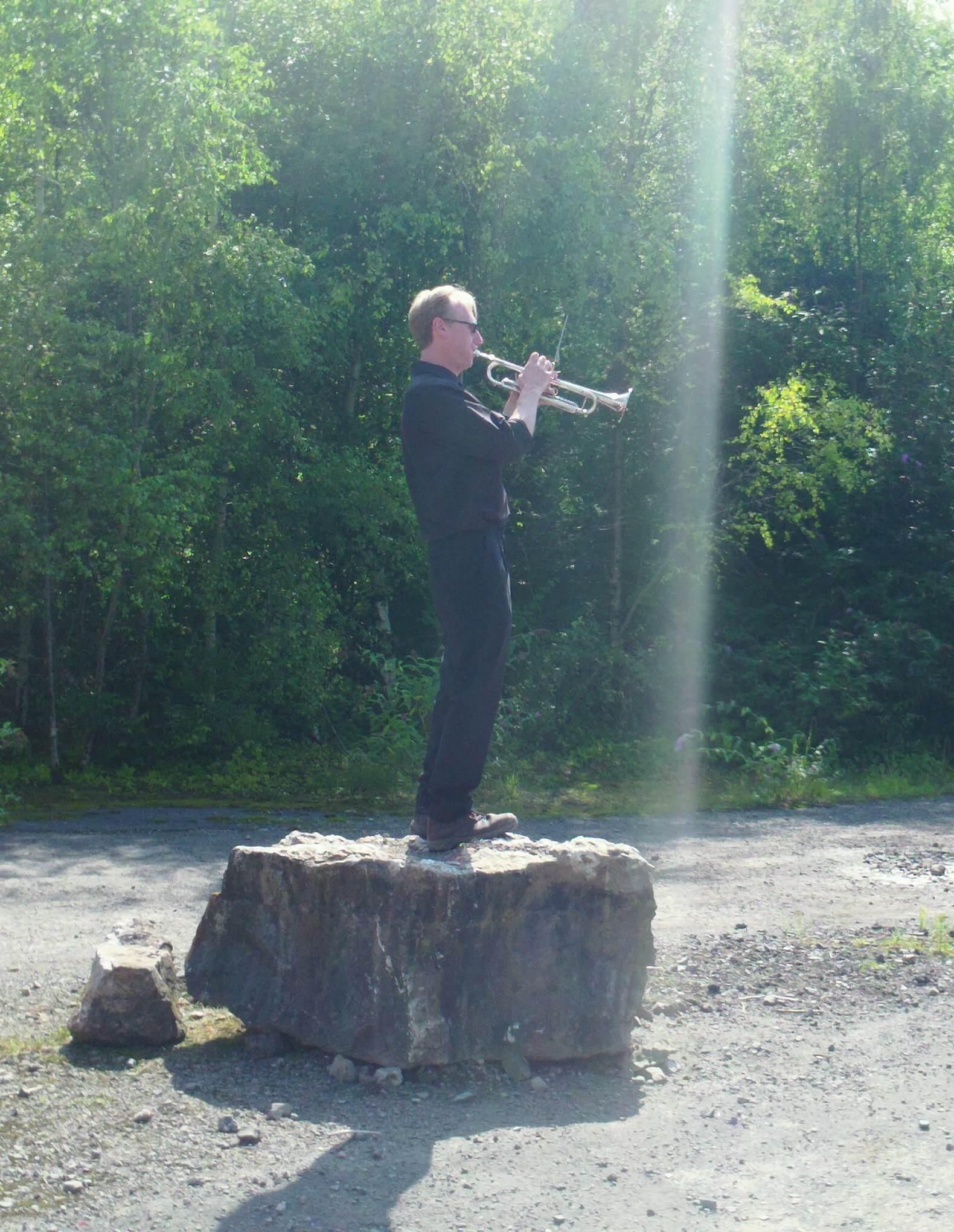 Artmusic's BLAST, trumpet John Plaxton