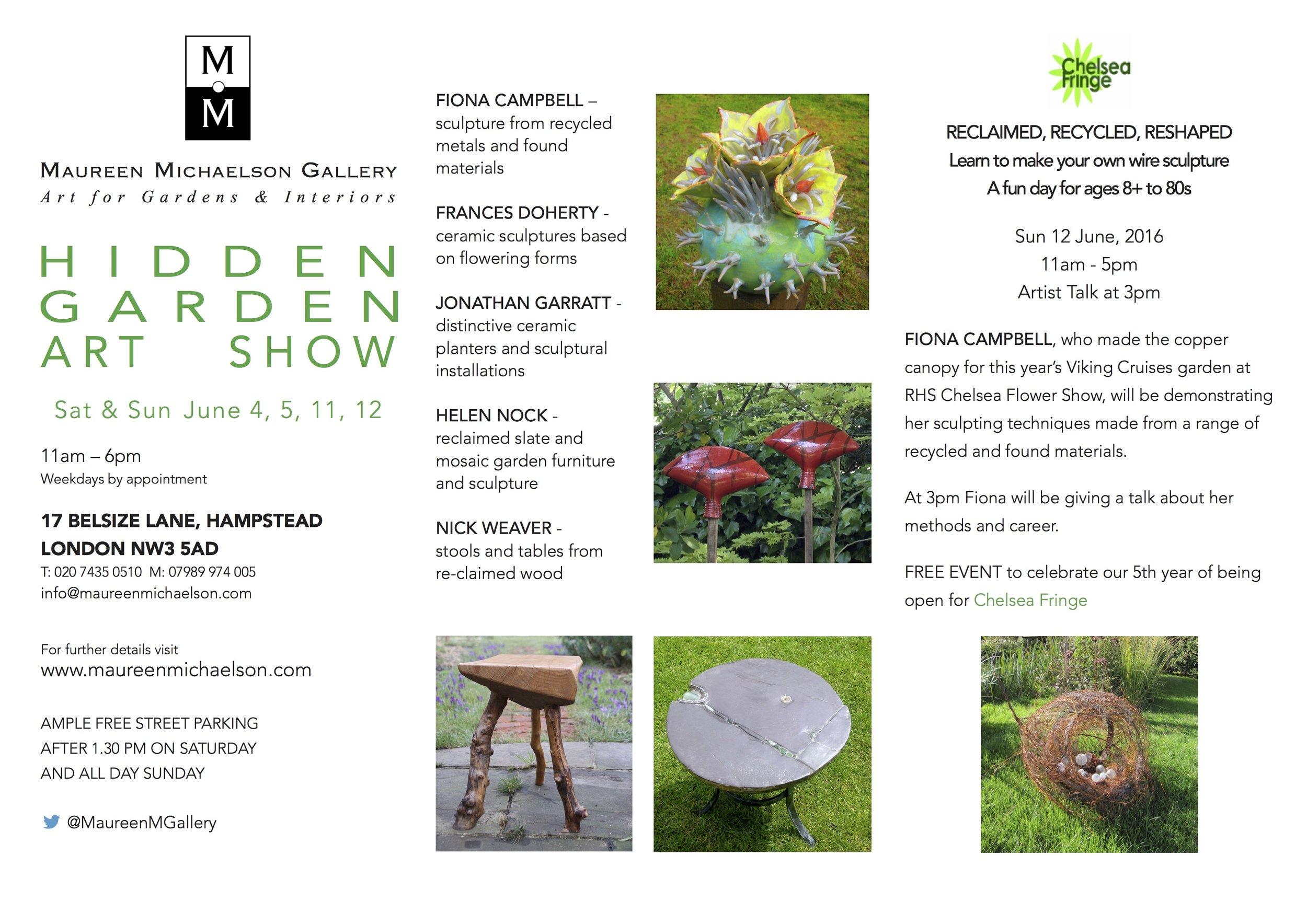 MMG Hidden Garden Art Show