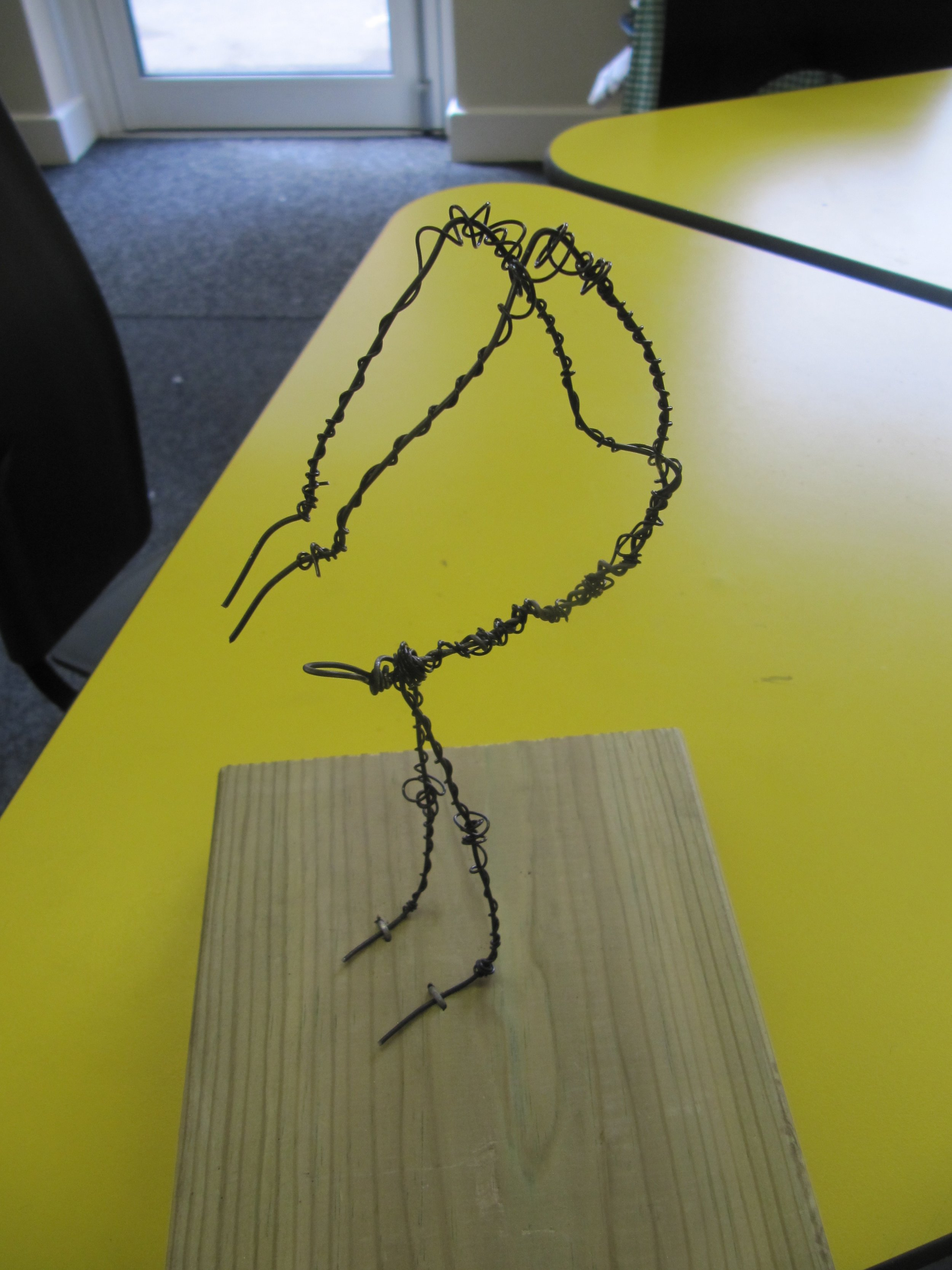 Giacometti-inspired figure