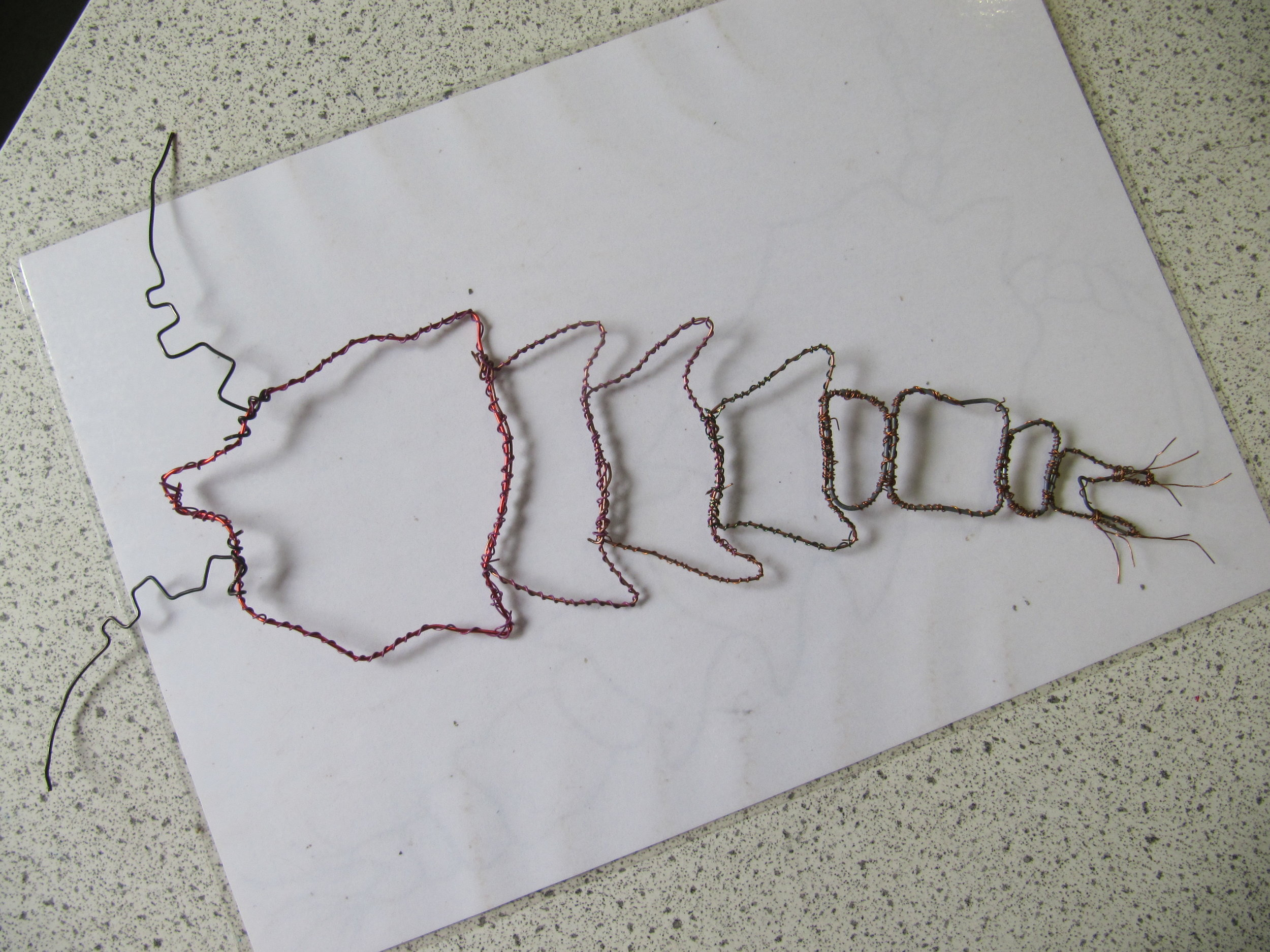 Wire Woodlouse by Yr 13 helper - Bishops Wordsworth School