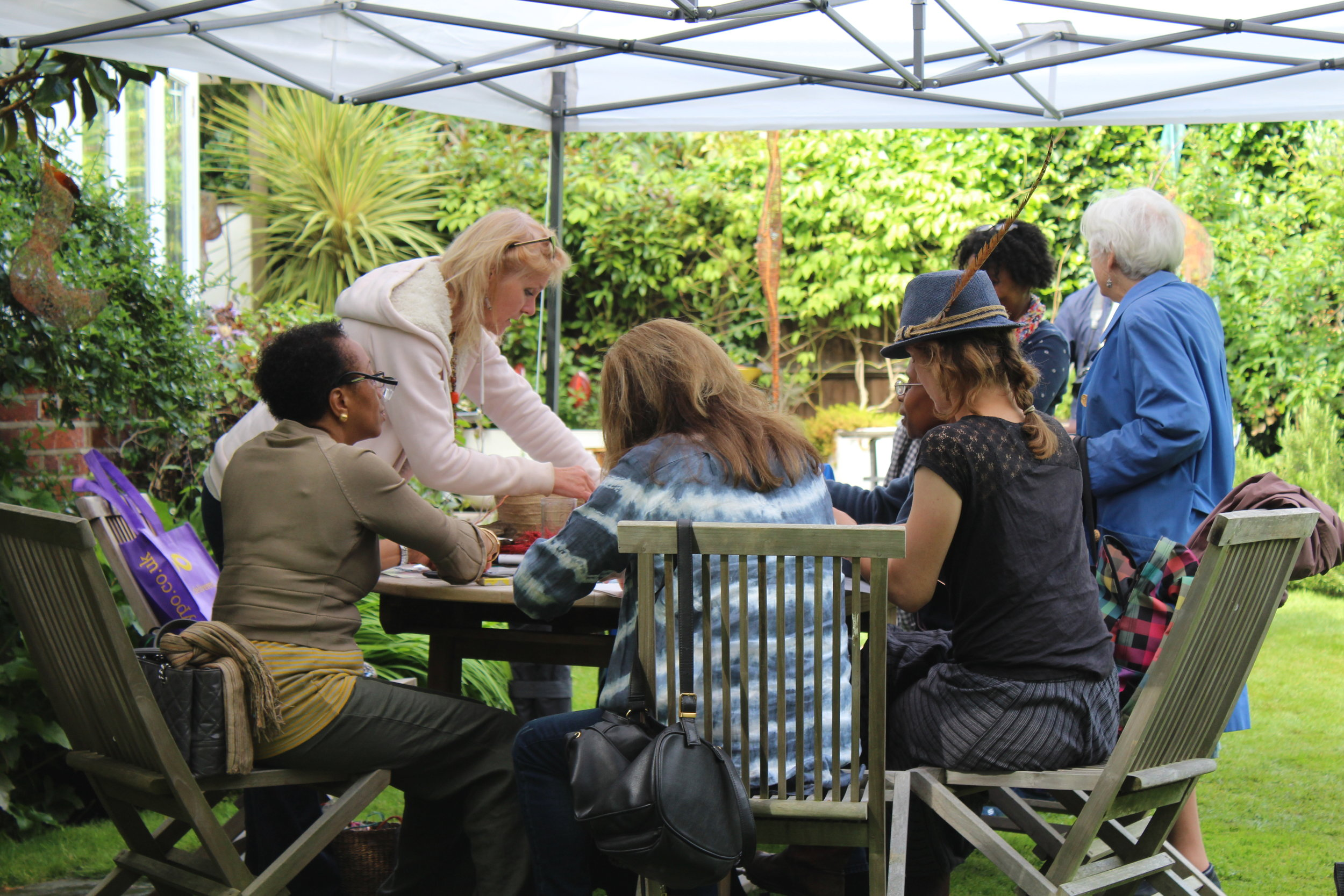 Drop-in workshop at Hidden Garden Art Show
