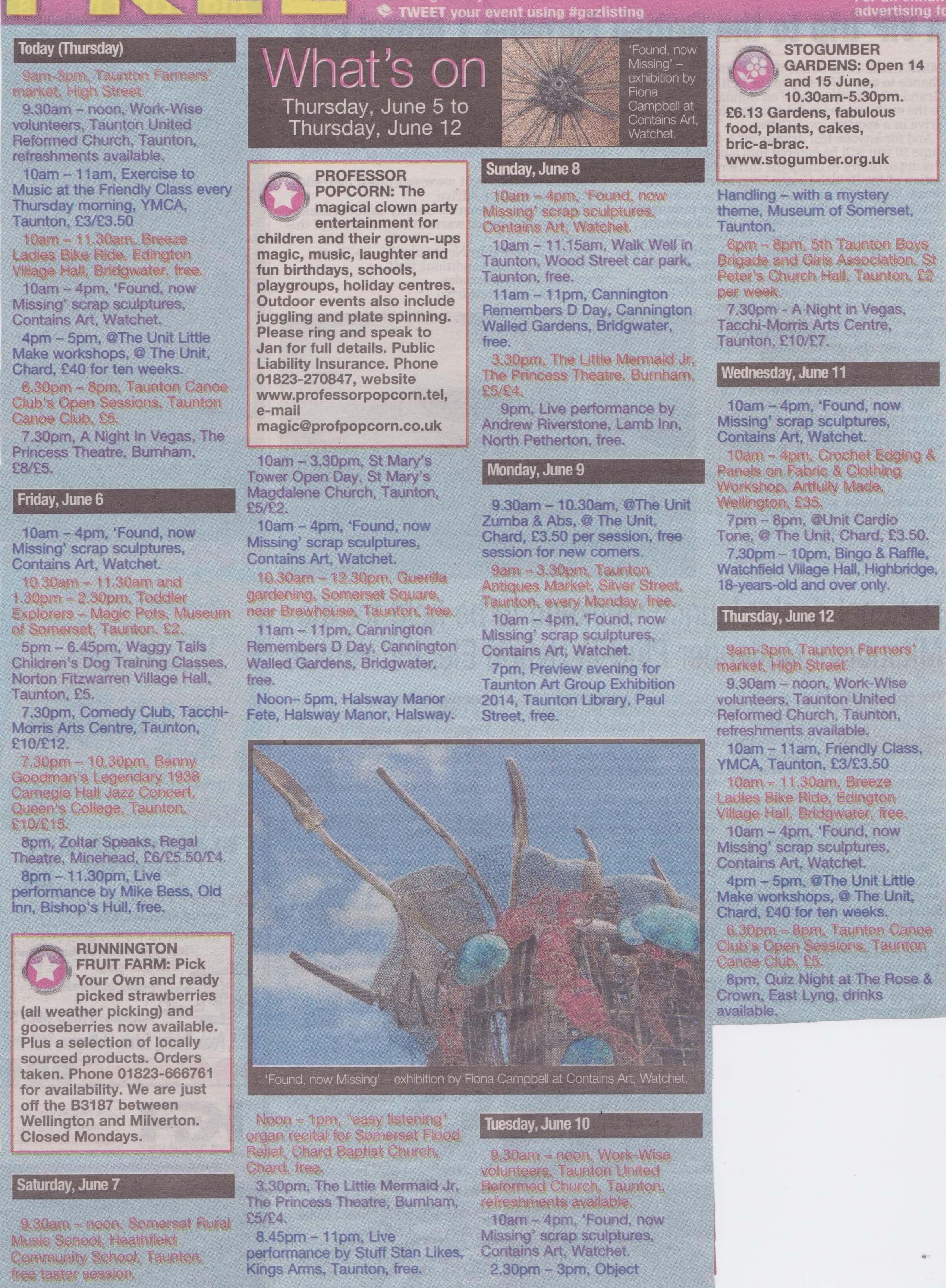 Gazette listings