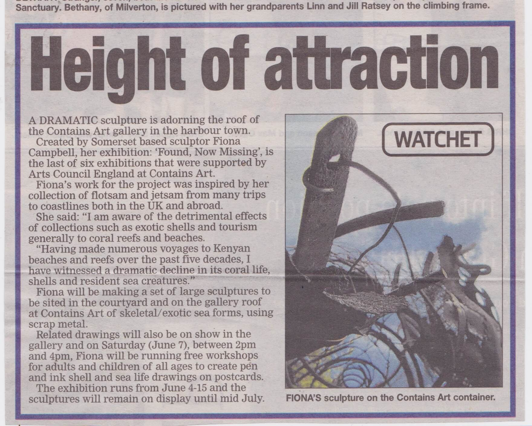 Somerset Gazette article