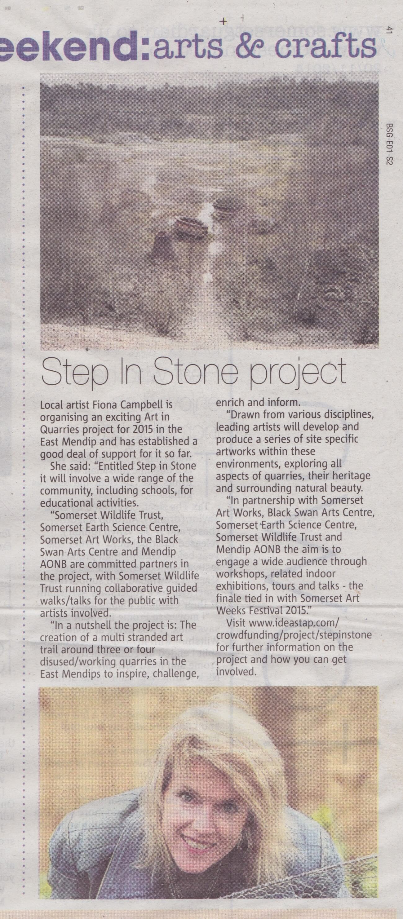 step in stone -Somerset Guardian 20:11:14