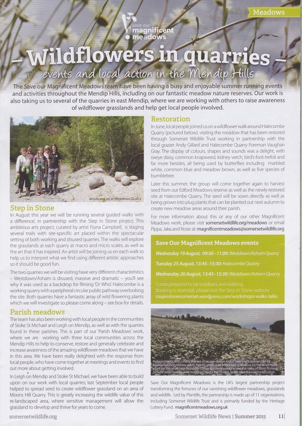Somerset Wildlife Trust magazine