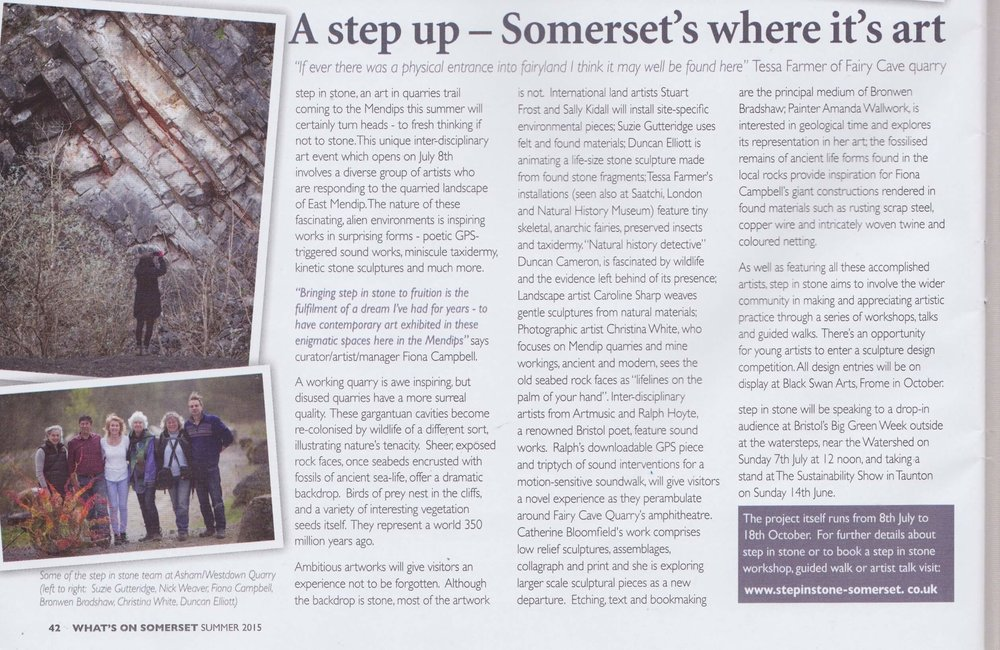 What's On Somerset Magazine, summer What's On Somerset, summer '15