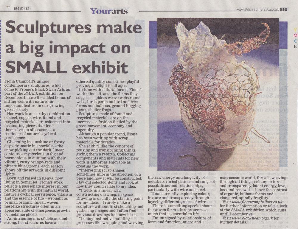 This is Somerset  - Sculptures make big impact... Nov '12