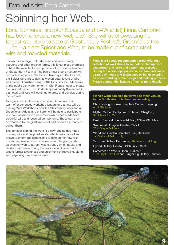 Spaeda Magazine feature - Summer 2010