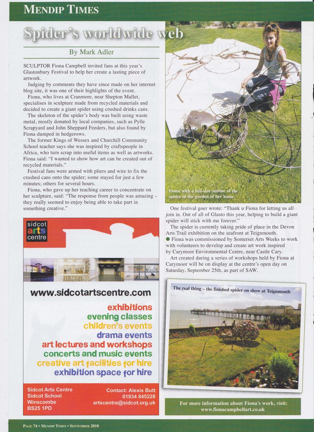 Mendip Times - Glastonbury Spider '10