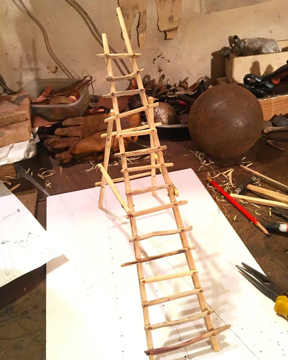 rickety ladder maquette.jpg